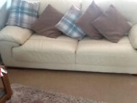 DFS Leather Sofa's x 2 - One Three Seater & One Two Seater - Very good condition