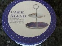 Petite Cake plates stand new and boxed perfect gift for a friend or yourself