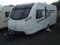 2014 swift elegance 580 fixed island bed 4 berth end changing room with fitted mover