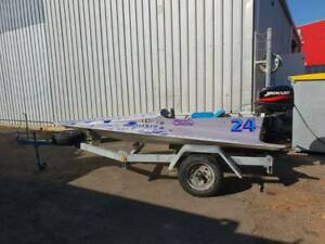 *Race spec* Wing boat with 25hp Mercury 2 stroke 2001 model and traile East Bunbury Bunbury Area Preview