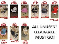 MASSIVE CLEARANCE For HAIR & BEAUTY CHAIRS!!! Hairdresser/Beauty/Threading/Make-up/Barber/Styling