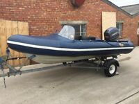 Avon Searider 4m RIB Boat with Mariner 40hp Magnum and Trailer