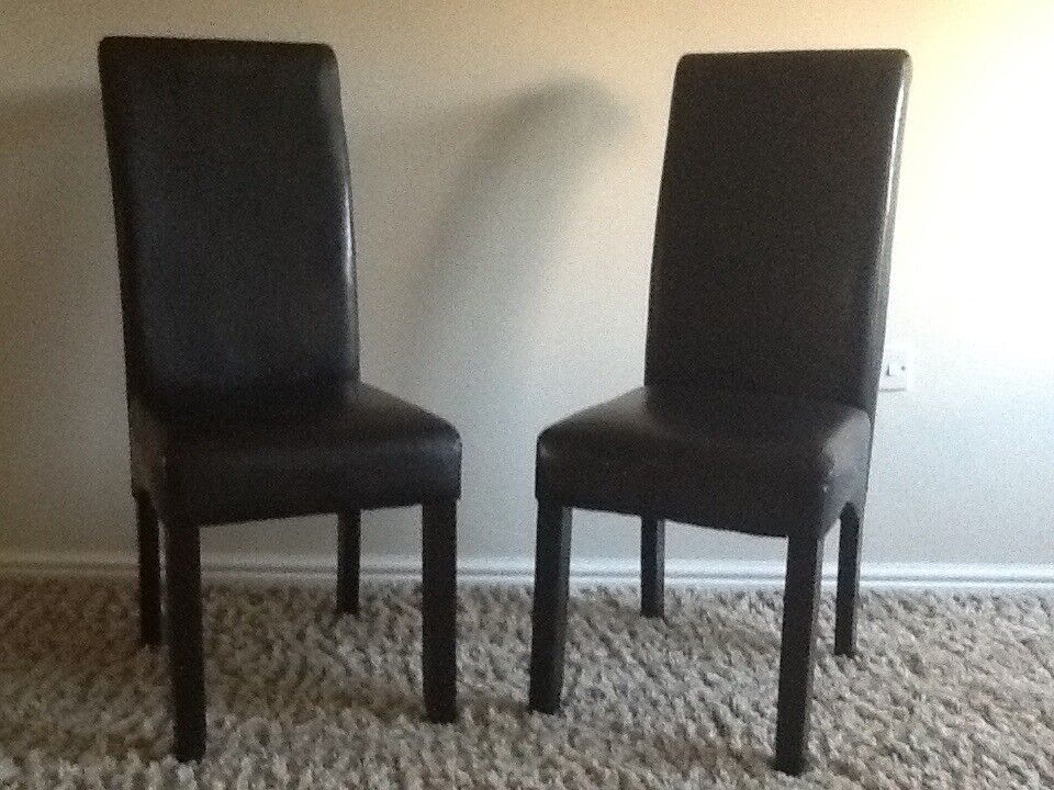 Black Faux Leather Dining Chairs In Pembroke