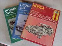 "Various "" Haynes"" Car Service Manuals"