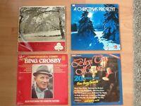 4 Christmas vinyl Lp's