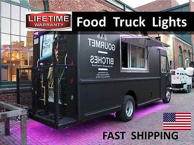 Food Truck Trailer Led Lighting Kit - Light Your Stainless Hot Dog Cooker Roll