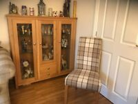 Solid Oak Display Cabinet Dresser *DELIVERY INCLUDED* Sideboard Cupboard Drawers (not pine)