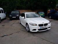 White BMW 520d M Sport Touring