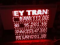 led matrix 64cm square sign, programable shop fitting