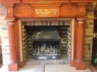 Antique fire surround