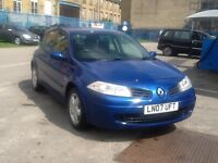 Renault Megane 2007 Manual Blue Excellent Condition