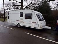 Elddis Amber 556 6 Berth caravan 2008 ,FIXED BUNK BEDS, AWNING, BARGAIN !