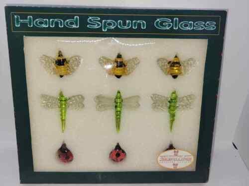 MARGARET COBANE Hand Spun BLOWN GLASS Bee LadyBug Dragonfly Rare