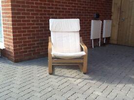 IKEA poang arm chair, in birch veneer, very lightly used
