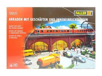 Modellbahn Bausatz Arkaden mit Geschäften u. Einrichtungen, Faller H0 120571 neu