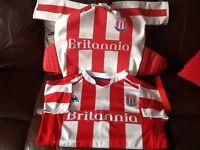 Stoke City top & rucksack.