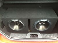 Twin 12inch Clarion Subwoofers With Amplifier