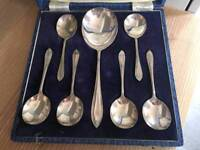 Silver plated set of spoons