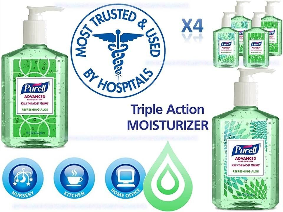 PURELL Advanced Hand Sanitizer Gel, Refreshing Aloe, Design