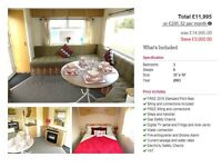 CHEAP STATIC CARAVAN FOR SALE NEAR NEWCASTLE, NOT AMBLE LINKS, NOT HAVEN, FINANCE AVAILABLE