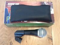 Shure PGA48 Microphone, VGC, Boxed w/bag & mic stand clip