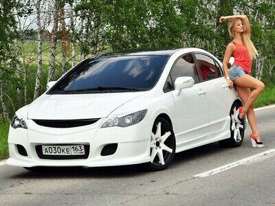 Side Skirts INGS Style Body Kit for Honda Civic 4D Sedan 8th gen 2006-2012