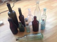 Collection of vintage bottles