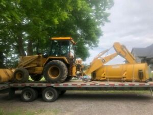 Flatbed float transportation. Equipment Freight Trailers