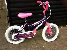 Bike - child's bike purple and pink, suit 4- 7 year old.