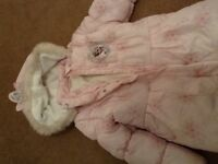 Frozen padded winter coat in pale pink new & never been worn age 7/8 years