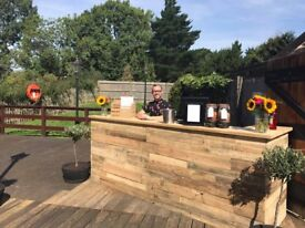 3 Metre Rustic Wedding Event Bar For Sale or Hire