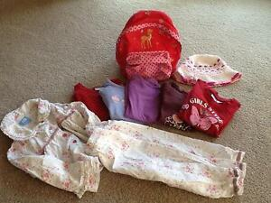 Girl pack: PJs, sun hat, shirts back pack pink, 3 years old Mentone Kingston Area Preview
