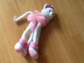 Barbie Long Legged Cat Ballerina plush soft toy
