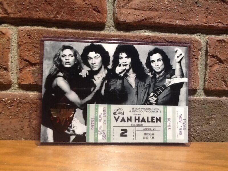Van Halen 4x6 Photo Tribute Guitar Pick Display!!!