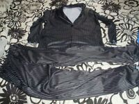STRIPED FANCY DRESS SUIT SIZE M GREAT GOMEZ ADDAMS FAMILY OR JACK FROM NIGHTMARE BEFORE CHRISTMAS