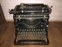 Rare Underwood no.5 typewriter (1920's)