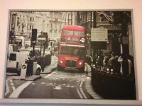 London Bus Wall Canvas