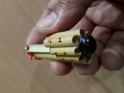 BAMBOO FLUTE MUSICAL BIRD WHISTLE Sound Handmade FAIR TRADE Wooden vintage Tool