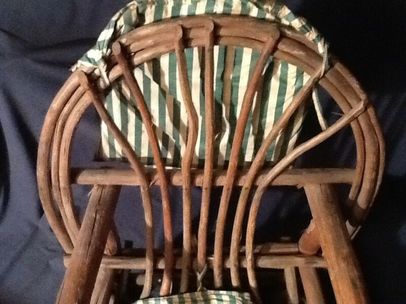 Antique Adirondack  / shaker Folk Art Twig & Branch bentwood chair as found cond