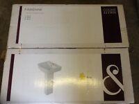 Brand new in box single hole pedestal basin/sink