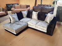 BRAND NEW CRUSH VELVET CORNER/3+2 SEATER SOFA SET AVAILABLE
