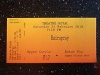 Nottingham Theatre Royal ticket- Hairspray Saturday 24th February 2018