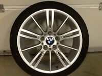 18INCH 5/120GENUINE BMW MV3 ALLOY WHEELS WITH WIDER REAR RIMS 8.5INCH & FRONTS 8INCH WIDE WITH TYRES