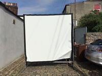 Rear projector screen 8 foot by 8 foot with aluminium frame