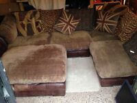 DFS CORNER SUITE &POUFFE 4YRS OLD V.G.C.SELLING DUE TO MOVE