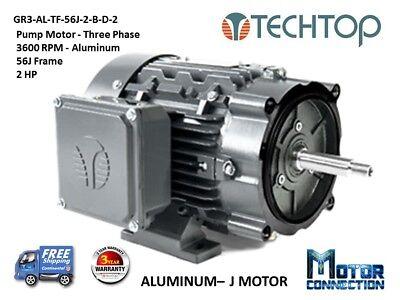 2 Hp Electric Motor Pump 3600 Rpm 56j 3-phase Nema Premium
