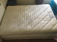 Double duvan bed frame and mattress