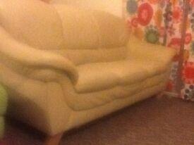 2 and 3 seater cream sofas