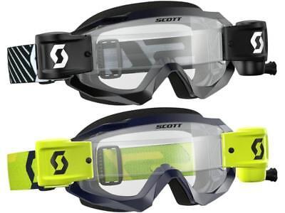 Scott Usa Goggle (Scott USA Hustle X WFS Goggle W/Roll Off Film System Anti-Stick Lens Mud MX/ATV )