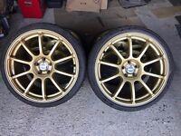 "18"" Rota Force Drift with Tyres for sale - Subaru Impreza STi / 5x100 / Drift / VW Golf / Seat Leon"